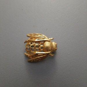 Vintage Rare Napier Goldtone Bumble Bee Brooch Pin